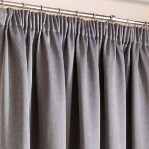 Super Weave Blackout Grey Pencil Pleat Curtains