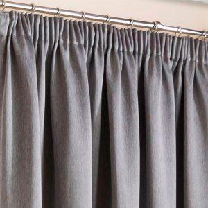 Super Weave Blackout Grey Pencil Pleat Curtains