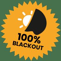 100% Blackout Fabric Roundel
