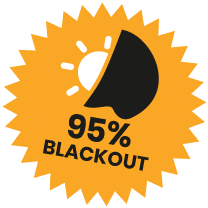95% Blackout Fabric Roundel