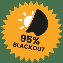 95% Blackout Fabric Roundel
