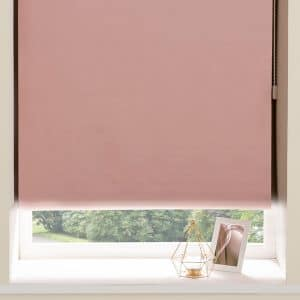 Blackout Roller Blinds in Light Pink