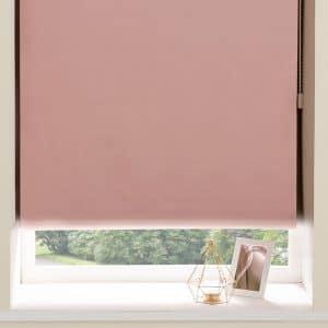 Blackout Roller Blinds in Light Pink