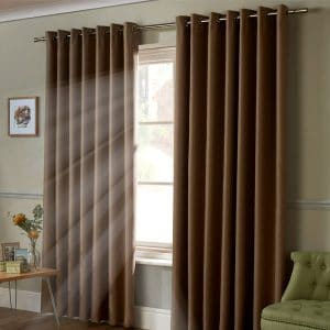 95% Blackout Eyelet Curtains in Beige