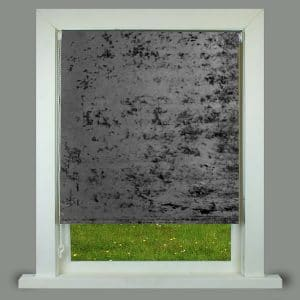 Crushed Velvet Roller Blind Charcoal
