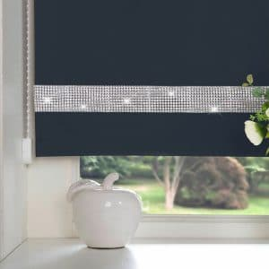 Diamante Roller Blind Navy