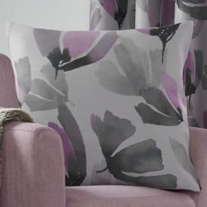 Amsterdam Patterned Square Cushion Cover in Purple