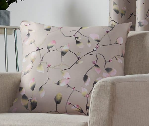Blossom Patterned Square Cushion Cover