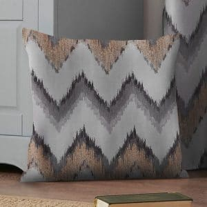 Oslo Patterned Square Cushion Cover in Ochre
